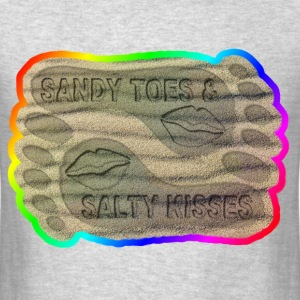 SANDY TOES AND SALTY KISSES  - Men's T-Shirt
