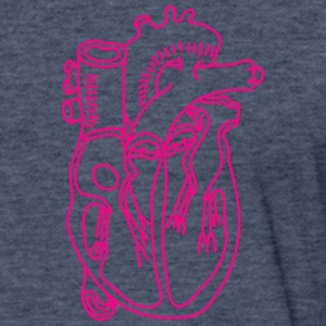Heart T-Shirts - Fitted Cotton/Poly T-Shirt by Next Level