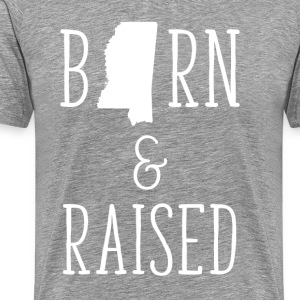 Mississippi Born and Raised State T-shirt T-Shirts - Men's Premium T-Shirt