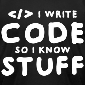 Programmers know stuff T-Shirts - Men's T-Shirt by American Apparel