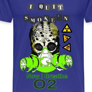 Quit smoking, breathe o2 - Men's Premium T-Shirt