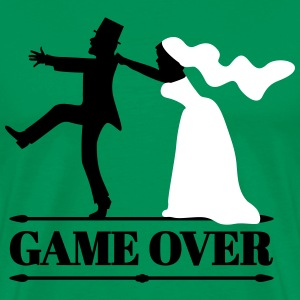 game over bride and groom T-Shirts - Men's Premium T-Shirt