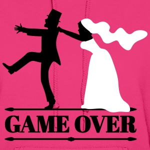 game over bride and groom Hoodies - Women's Hoodie