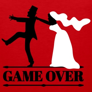 game over bride and groom Sportswear - Men's Premium Tank