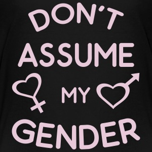 Don't Assume My Gender Genderqueer Trans Pride Kids' Shirts - Kids' Premium T-Shirt