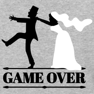 game over bride and groom T-Shirts - Baseball T-Shirt