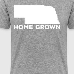 Nebraska Home Grown State T-shirt T-Shirts - Men's Premium T-Shirt