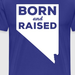 Nevada Born and Raised State T-shirt T-Shirts - Men's Premium T-Shirt