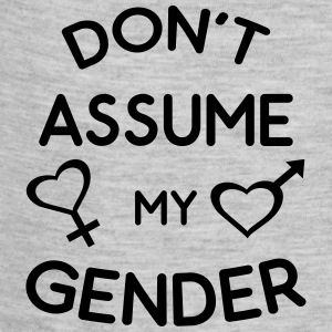 Don't Assume My Gender Genderqueer Trans Pride Baby Bodysuits - Baby Contrast One Piece