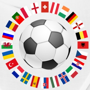 2016 Soccer ball around with flags Caps - Bandana