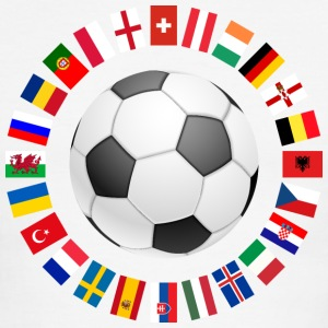 2016 Soccer ball around with flags T-Shirts - Men's Ringer T-Shirt