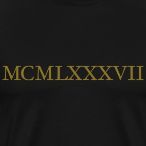 MCMLXXXVII 1987 Roman Birthday Year T-Shirts - Men's Premium T-Shirt