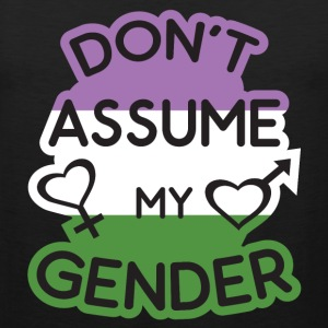 Dont Assume My Gender Flag Gengenderqueer Sportswear - Men's Premium Tank