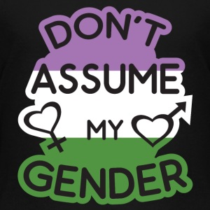 Dont Assume My Gender Flag Gengenderqueer Baby & Toddler Shirts - Toddler Premium T-Shirt