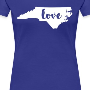 North Carolina Love State T-shirt Women's T-Shirts - Women's Premium T-Shirt