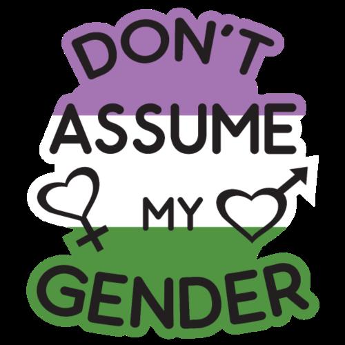 Dont Assume My Gender Genenderqueer LGBT