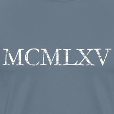 MCMLXV 1965 Birthday T-Shirts Roman