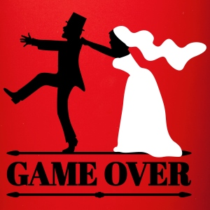 game over bride and groom wedding stag night - Full Color Mug