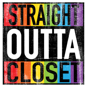 Straight Outta Closet Funny LGBT Pride