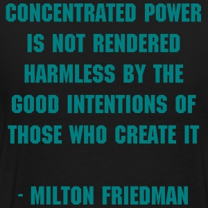 The Rational Libertarian - Milton Friedman - Men's Premium T-Shirt