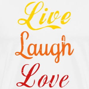 Life, laugh, love - Men's Premium T-Shirt
