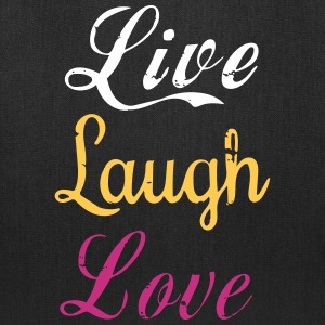 Life, laugh, love, Tote Bag - Tote Bag