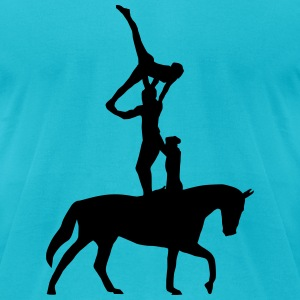 equestrian vaulting T-Shirts - Men's T-Shirt by American Apparel