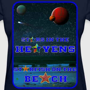 STARS IN THE HEAVENS STARFISH ON THE BEACH - Women's T-Shirt