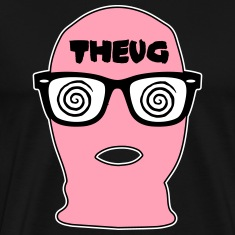 THEUG - The Urban Geek Pink Ski Mask T-Shirt