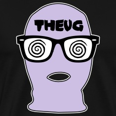 THEUG - The Urban Geek Lavender Ski Mask T-Shirt
