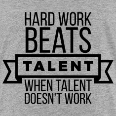hard work beats talent when talent doesn't work Kids' Shirts