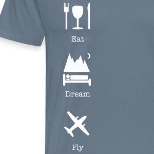 Eat, sleep, fly vertical T-Shirts - Men's Premium T-Shirt