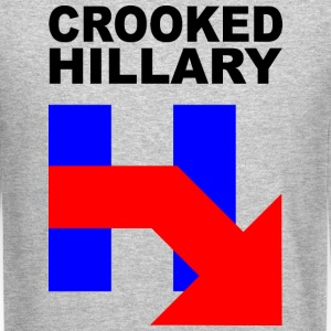 CROOKED HILLARY Long Sleeve Shirts - Crewneck Sweatshirt
