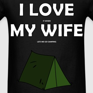 I Love My Wife Camping - Men's T-Shirt
