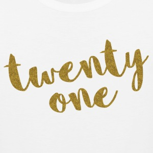 Twenty One / 21 Glitter Birthday Quote Sportswear - Men's Premium Tank