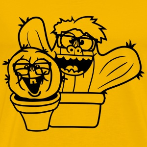 2 friends team nerd geek couple face funny comic c T-Shirts - Men's Premium T-Shirt