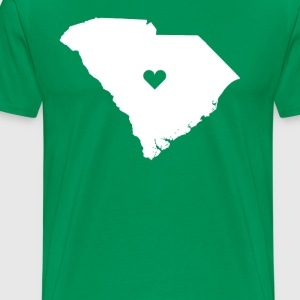 South Carolina Love State T-shirt T-Shirts - Men's Premium T-Shirt