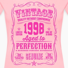 Vintage 1998 Aged to Perfection 18th Birthday Women's T-Shirts