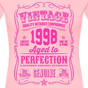 Vintage 1998 Aged to Perfection 18th Birthday Women's T-Shirts - Women's Premium T-Shirt