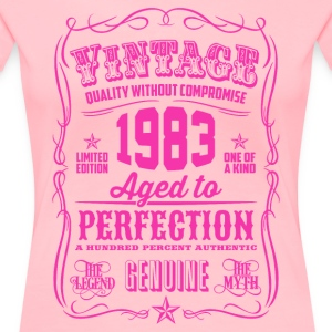 Vintage 1983 Aged to Perfection 33th Birthday - Women's Premium T-Shirt