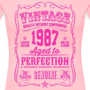 Vintage 1987 Aged to Perfection 29th Birthday - Women's Premium T-Shirt