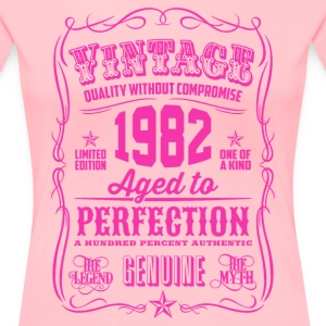 Vintage 1982 Aged to Perfection 34th Birthday - Women's Premium T-Shirt