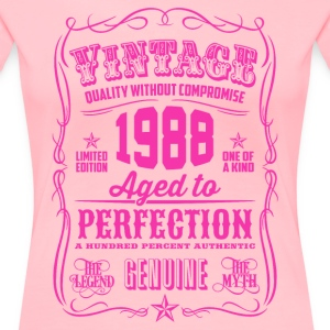 Vintage 1988 Aged to Perfection 28th Birthday - Women's Premium T-Shirt