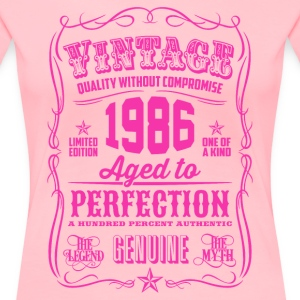 Vintage 1986 Aged to Perfection 30th Birthday - Women's Premium T-Shirt