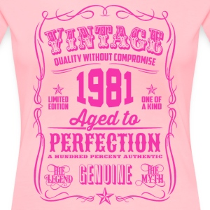 Vintage 1981 Aged to Perfection 35th Birthday - Women's Premium T-Shirt