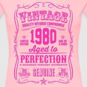 Vintage 1980 Aged to Perfection 36th Birthday - Women's Premium T-Shirt