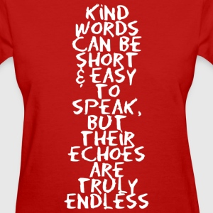 Kind words (dark) Women's T-Shirts - Women's T-Shirt