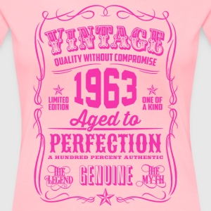 Vintage 1963 Aged to Perfection 53th Birthday - Women's Premium T-Shirt