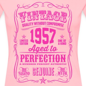 Vintage 1957 Aged to Perfection 59th Birthday - Women's Premium T-Shirt