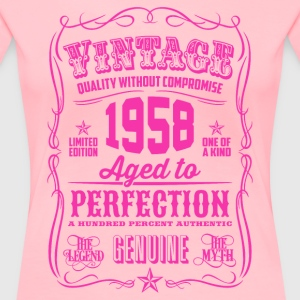 Vintage 1958 Aged to Perfection 58th Birthday - Women's Premium T-Shirt